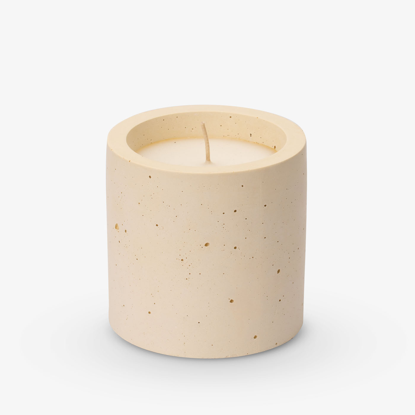 Kerze Lights One-Two-Three 10x10 cm | Pastellgelb