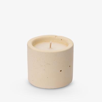 Kerze Lights One-Two-Three 6,5x7 cm | Pastellgelb
