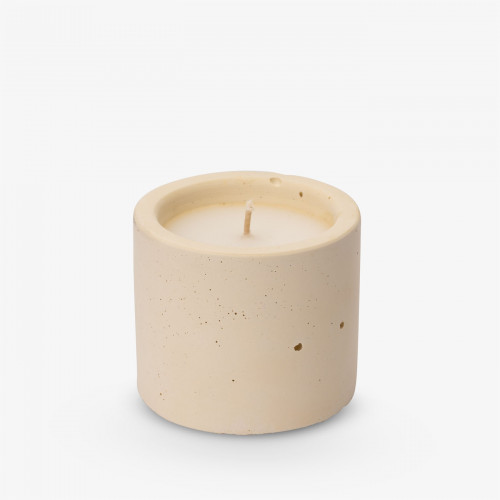 Kerze Lights One-Two-Three 6,5x7 cm   Pastellgelb
