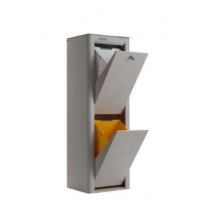 Recycling-Behälter mit zwei Einzelbehältern Cubek | Grau