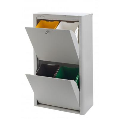 Recycling-Behälter mit vier Einzelbehältern Cubek | Grau