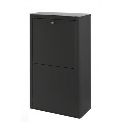 Recycling-Behälter mit vier Einzelbehältern Cubek | Schwarz