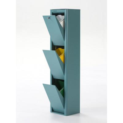Recycling-Behälter mit drei Einzelbehältern Cubek | Türkis