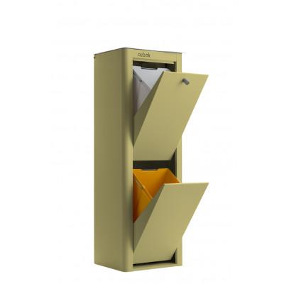 Recycling-Behälter mit zwei Einzelbehältern Cubek | Grüne Olive
