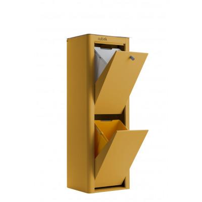 Recycling-Behälter mit zwei Einzelbehältern Cubek | Ocker