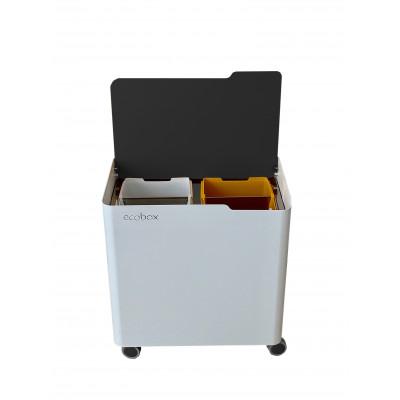 Recyclingbehälter Ecobox Top | Schwarz