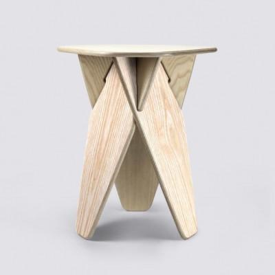 Beistelltisch Wedge   Natürliches Eschenholz