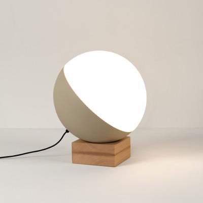 Table Lamp Half Large Ball ø 35 cm | Wooden Base