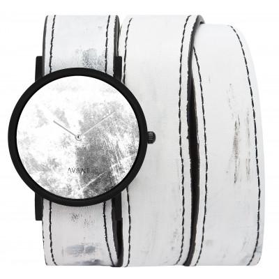Avant Diffuse Triple Watch   White & Black