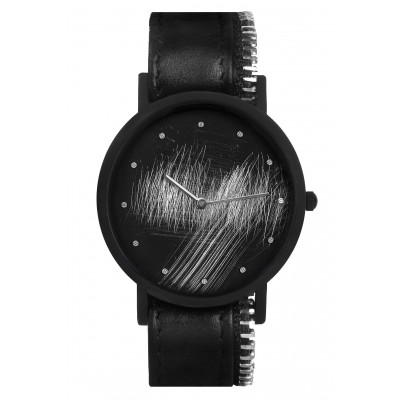 Avant Surface Side with Zip Watch   Black