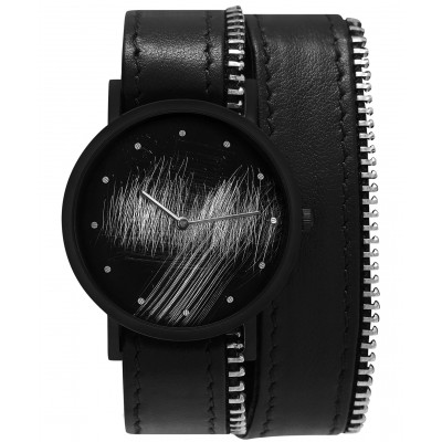 Avant Surface Double Side with Zip Watch   Black