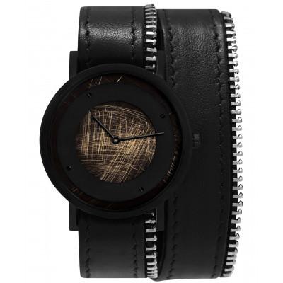 Avant Emerge Double Side Zip Watch   Black