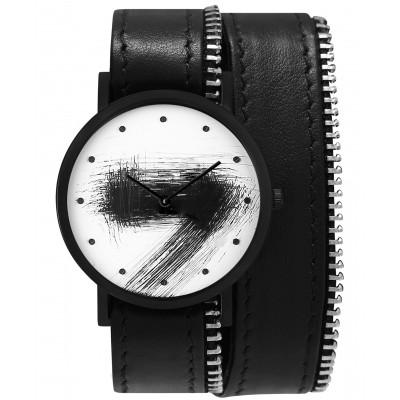 Avant Silent Double Side Zip Watch   Black