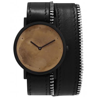 Avant Exposed Double Side Zip Watch   Black