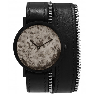 Avant Distinguished Double Side Zip Watch   Black