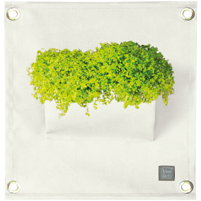 Pflanztasche 'Green Pockets' AMMA | Weiß