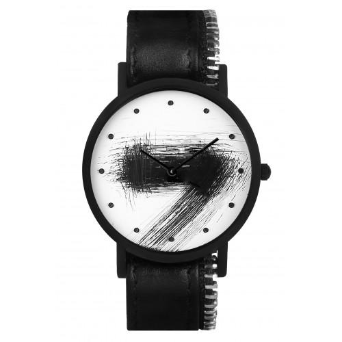 Avant Silent Side Zip Watch | Black