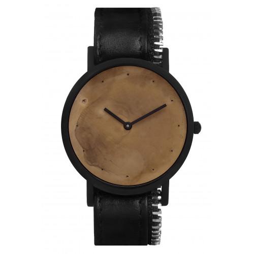 Avant Exposed Side Zip Watch | Black