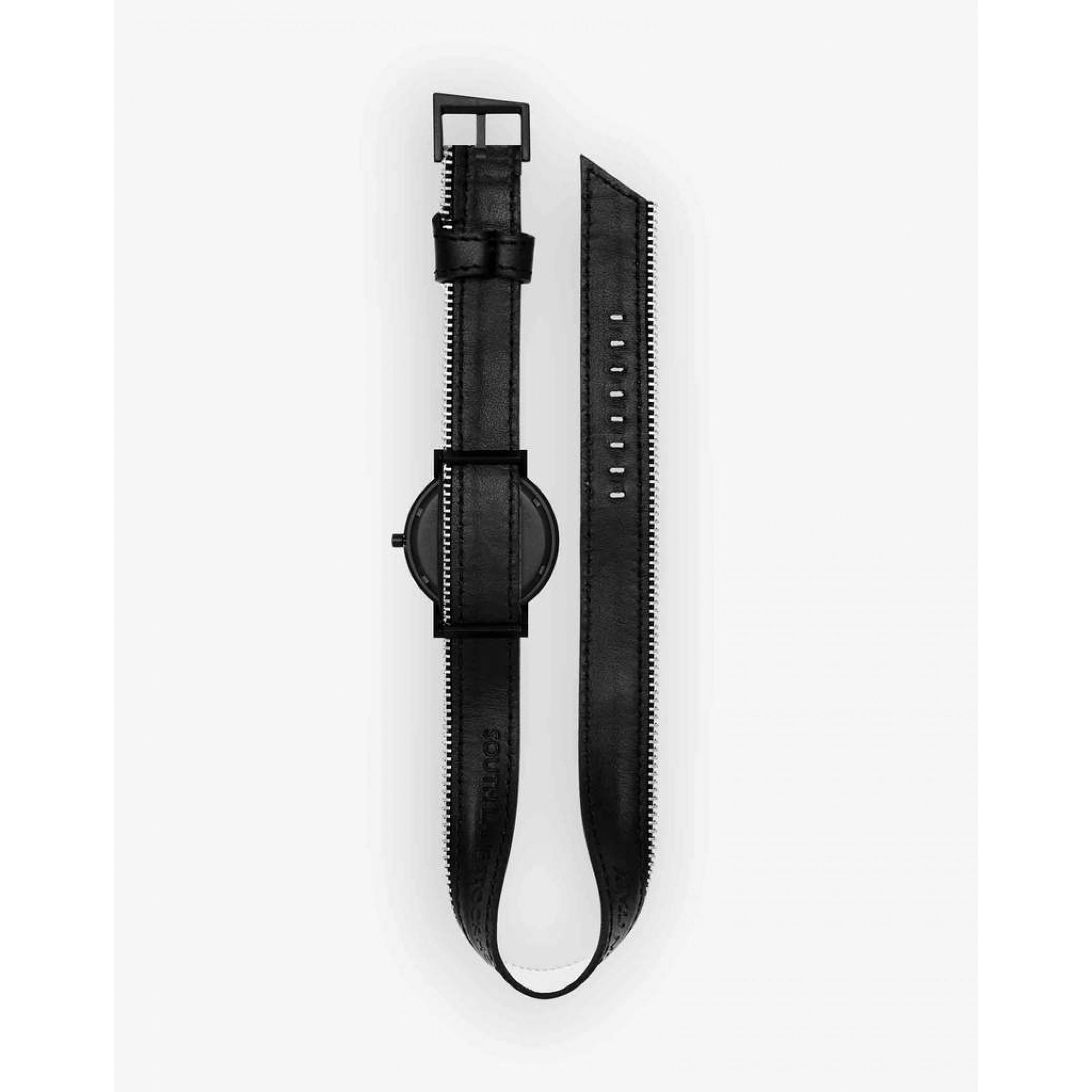 Avant Exposed Double Side Zip Watch | Black
