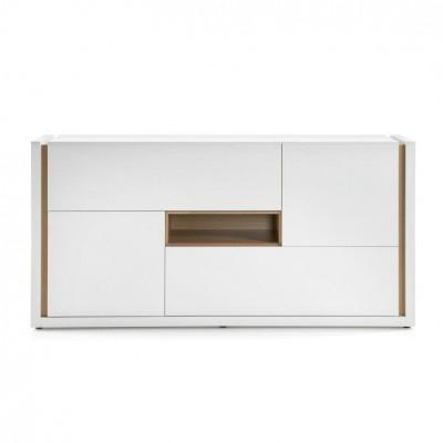 QU Sideboard 4 Türen | Reines Weiß