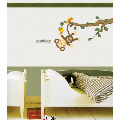 Der Affe in den Bäumen
