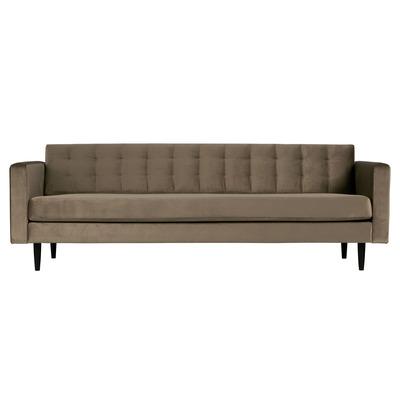 3-Sitzer-Sofa Livia Samt | Gold