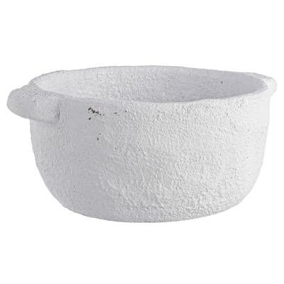Topf Ercolano | Schale Weißer Zement
