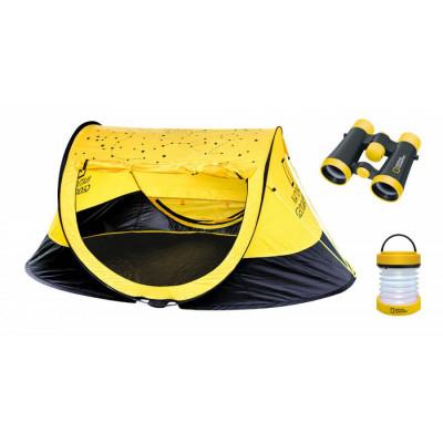 Outdoor Set (Tent, 4x30 Binoculars, Lantern)