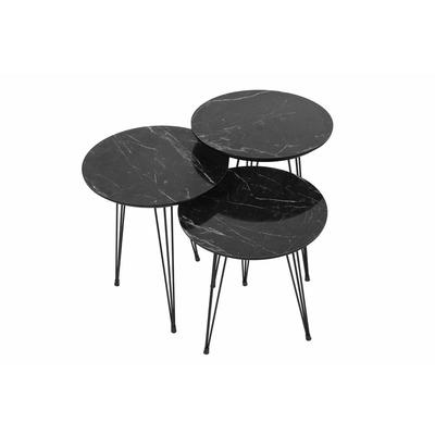 Nesting Tisch | Grau Schwarz