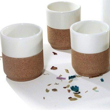 Set van 2 expresso tassen pistache
