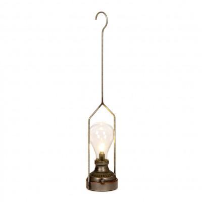 Hängendes LED-Ornament Metall | Grau/Braun