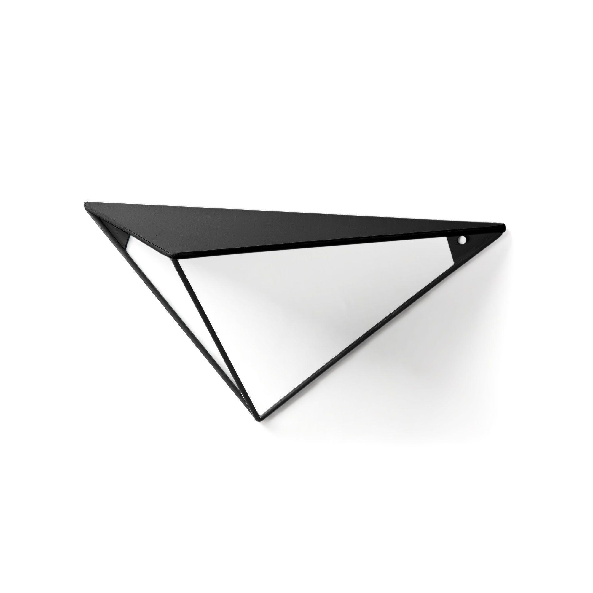 Wandregal Tegg Prisma | Schwarz