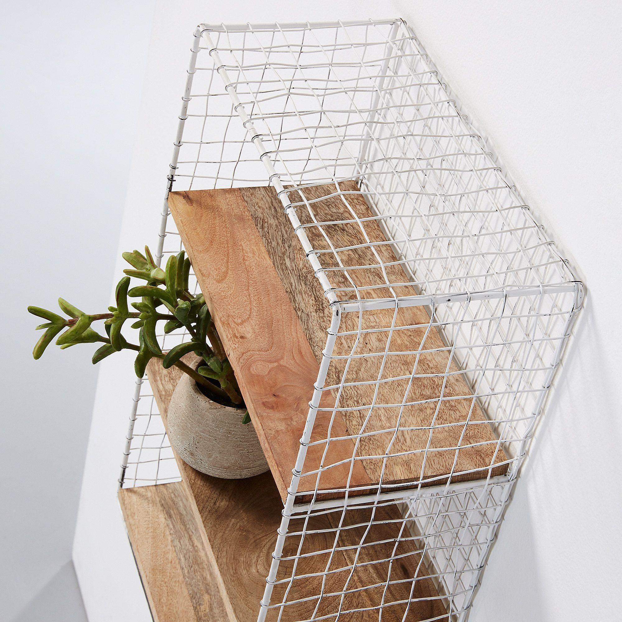 Wall Shelf Deland | Light Wood & White
