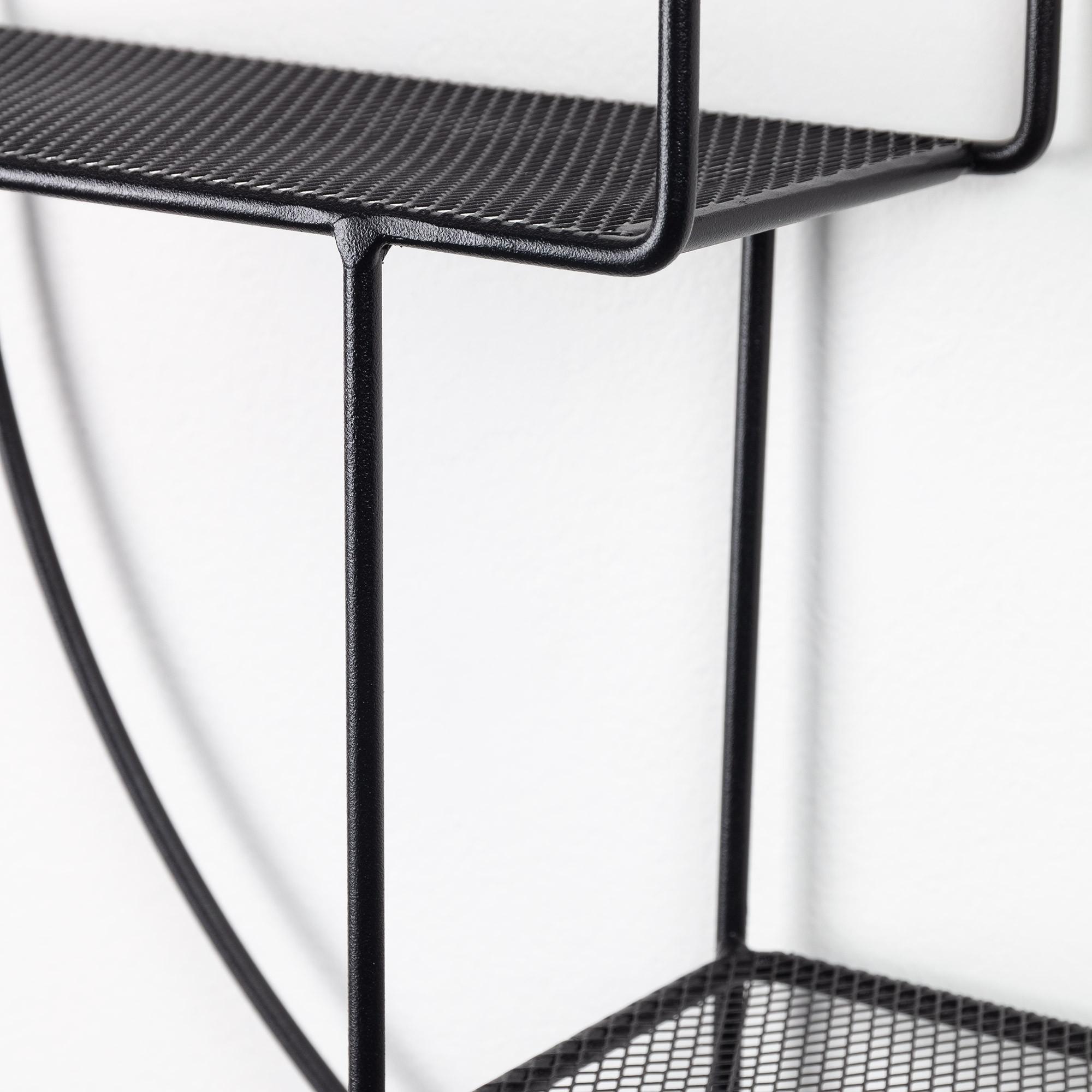 Shelf Straight Ø55 Metal   Black