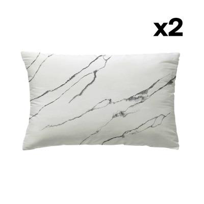 Set of 2 Pillow Covers 50 x 75 | Taisei White