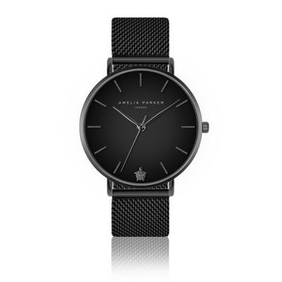 Uhr Jet Black Black Mesh   Matt-Schwarz
