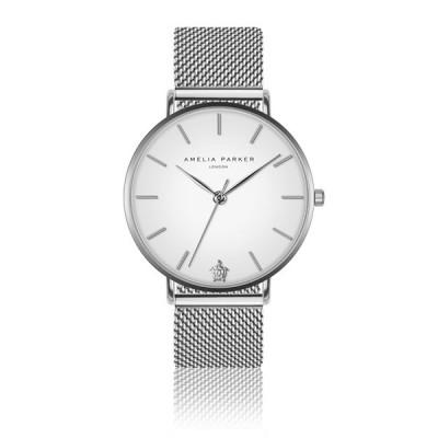 Uhr Pure Silver Mesh   Silber