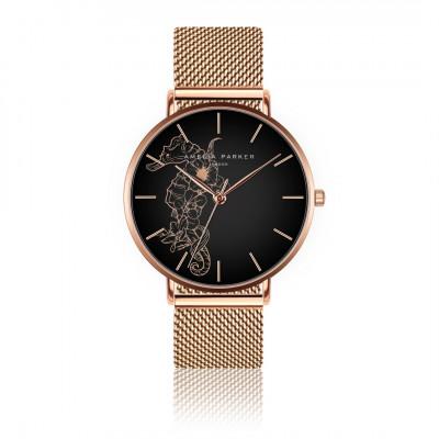 Uhr Fossil | Rosé goldenes Mesh