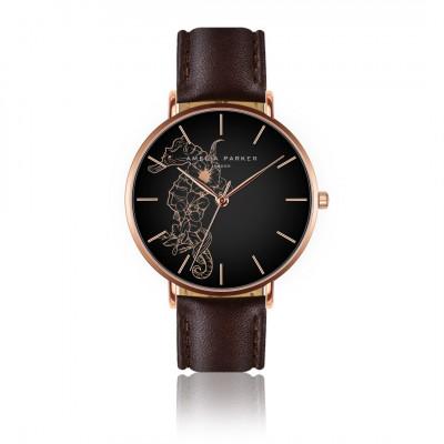 Uhr Fossil   Braunes Leder