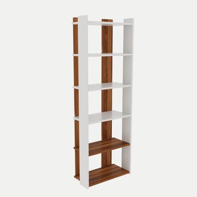 Bookshelf Sakran I White & Walnut
