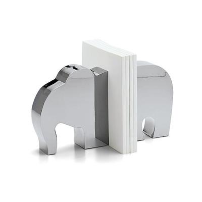 Elefant Buchstützen | Metallisch