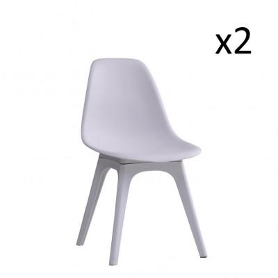 Stühle Carina 2er-Set   Weiß