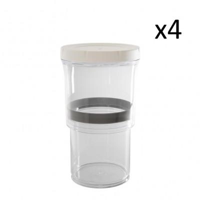 Verstellbarer Lebensmittelbehälter   Original   Satz von 4