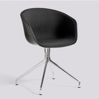 Über einen Stuhl AAC20 | Poliertes Aluminium & Schwarz / Remix 183 Frontpolsterung
