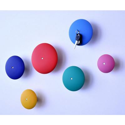 Haken-Schlüsselanhänger mit Magnet - farbig