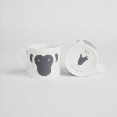 Tasse mit Tieren | Affe