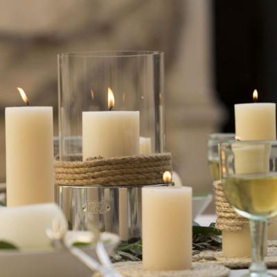 Laternenzylinder Glas & Edelstahl