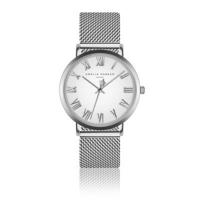 Uhr Grand Blanc Silver Mesh   Silber