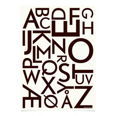 ABC Poster | Schwarz