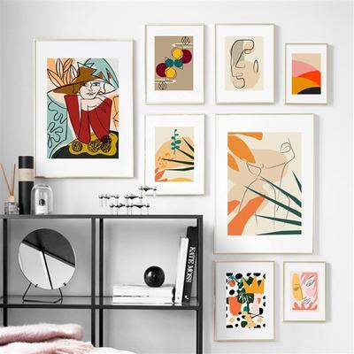 8er-Set Wandkunst Farbenfroh TS90   Mehrfarbig